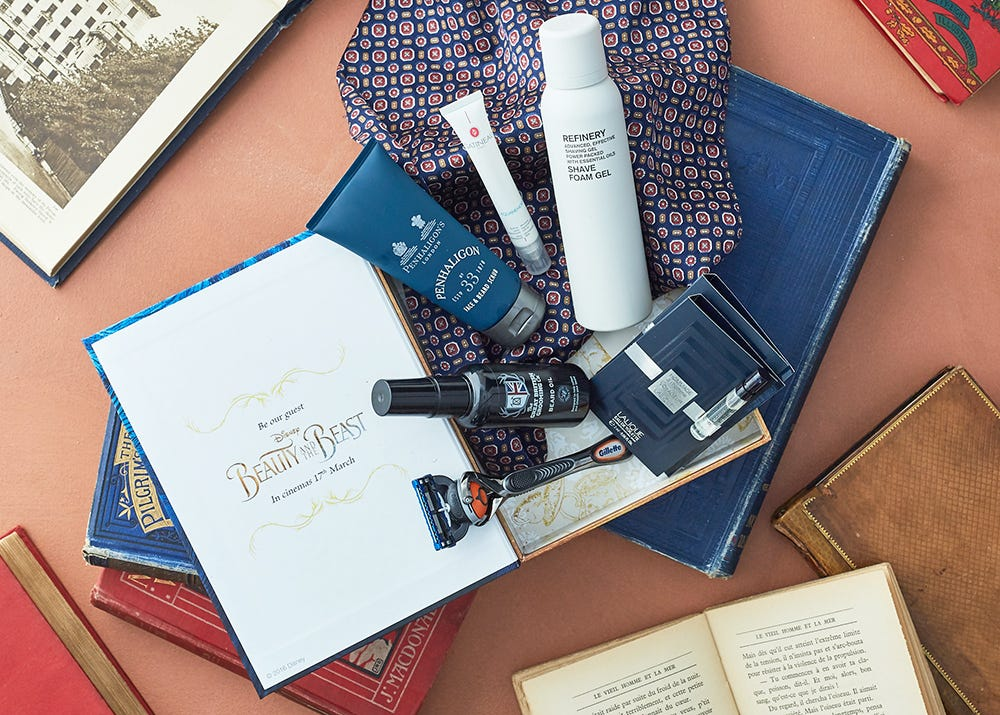 Latest in Beauty x Beauty and the Beast limited edition men's grooming box