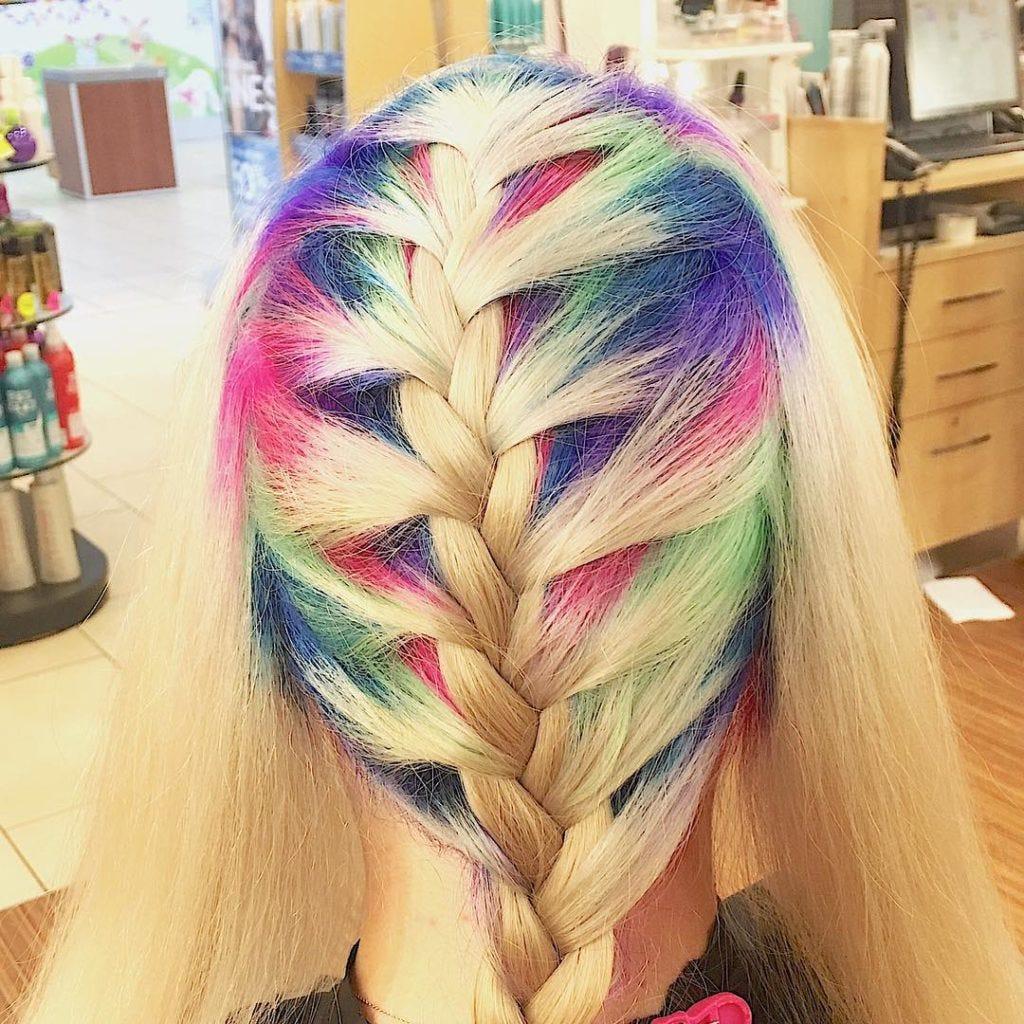 Rainbow-roots-braids
