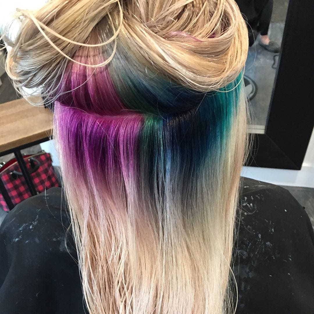 Insta Trend Hidden Rainbow Roots Latest In Beauty Blog