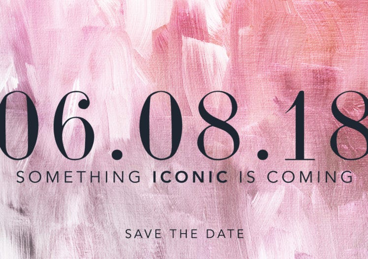 Something Iconic Is Coming and we're going LIVE…