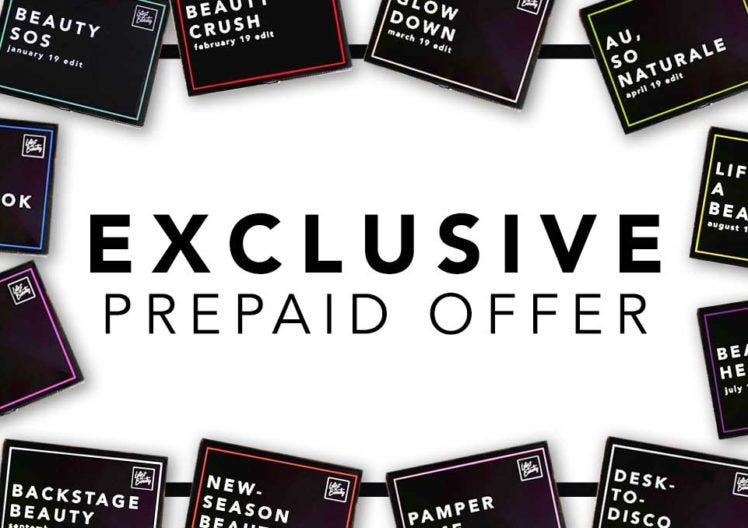 30 FREE Products? Your exclusive Prepaid Offer!