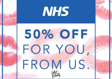NHS 50% DISCOUNT: FROM US, TO YOU.