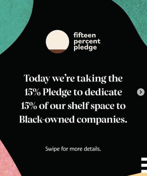 sephora joins 15 percent pledge