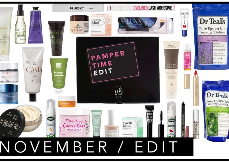 The Low-down on November's Pamper Time Edit